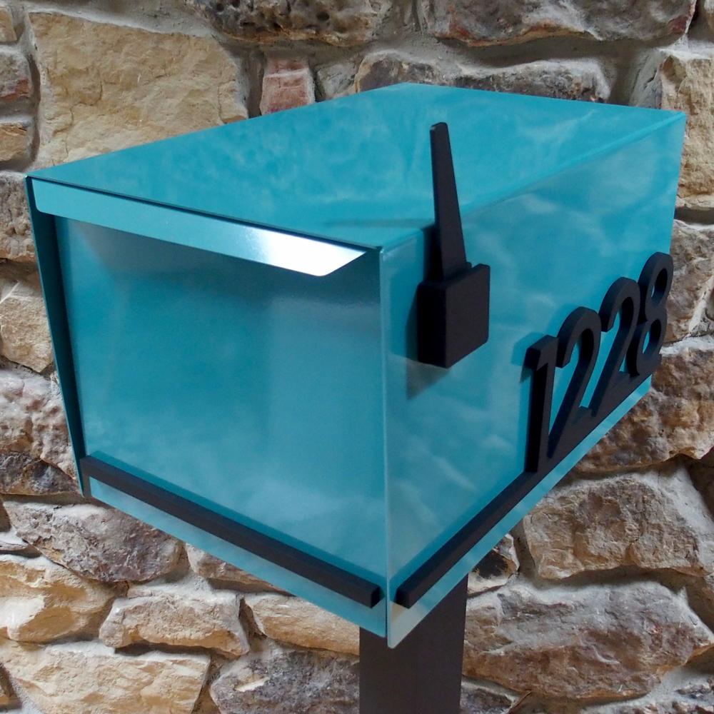 No 1219 Custom Post Mount Mailbox Modernist Underline Edition