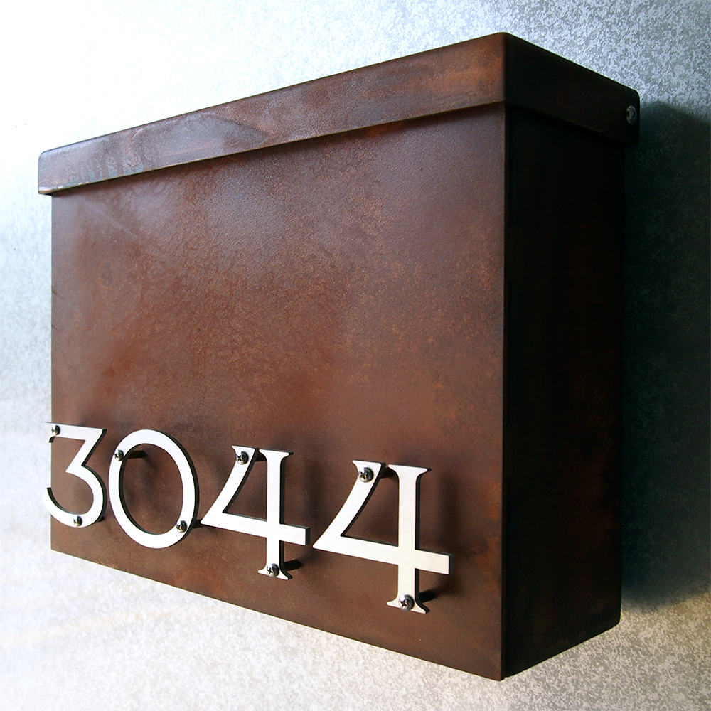 Custom Victorian Floating House Number Mailbox No 1310 In