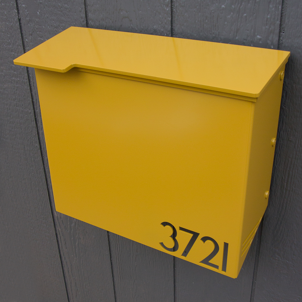 Custom House Number Mailbox No 1711 Wrap Front In Powder
