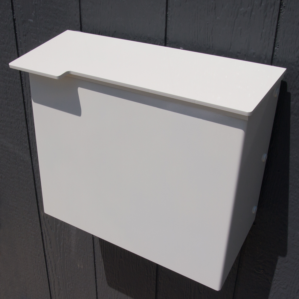 Mailbox No 1711 Wrap Front In Powder Coated Aluminum