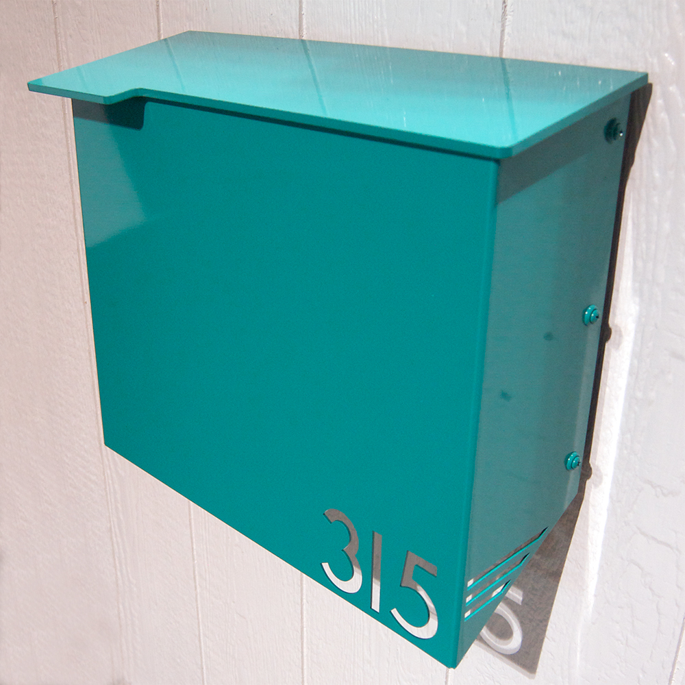 Mid Century Modern Mailbox I Ve Also Been Moda Industria Modern Mailbox  1711 Powder Coated Aluminum
