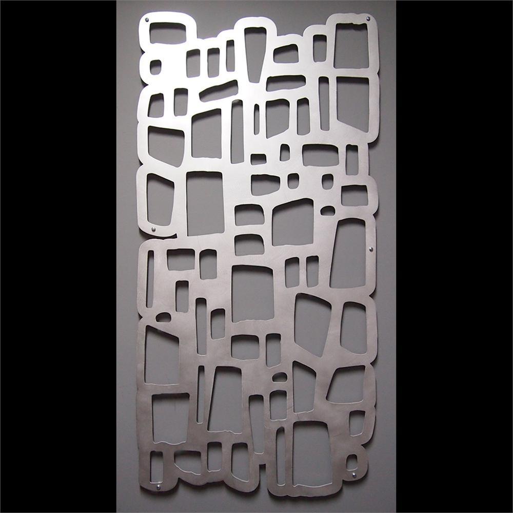 mod rocks wall art 23 x 46 hand brushed aluminum. Black Bedroom Furniture Sets. Home Design Ideas