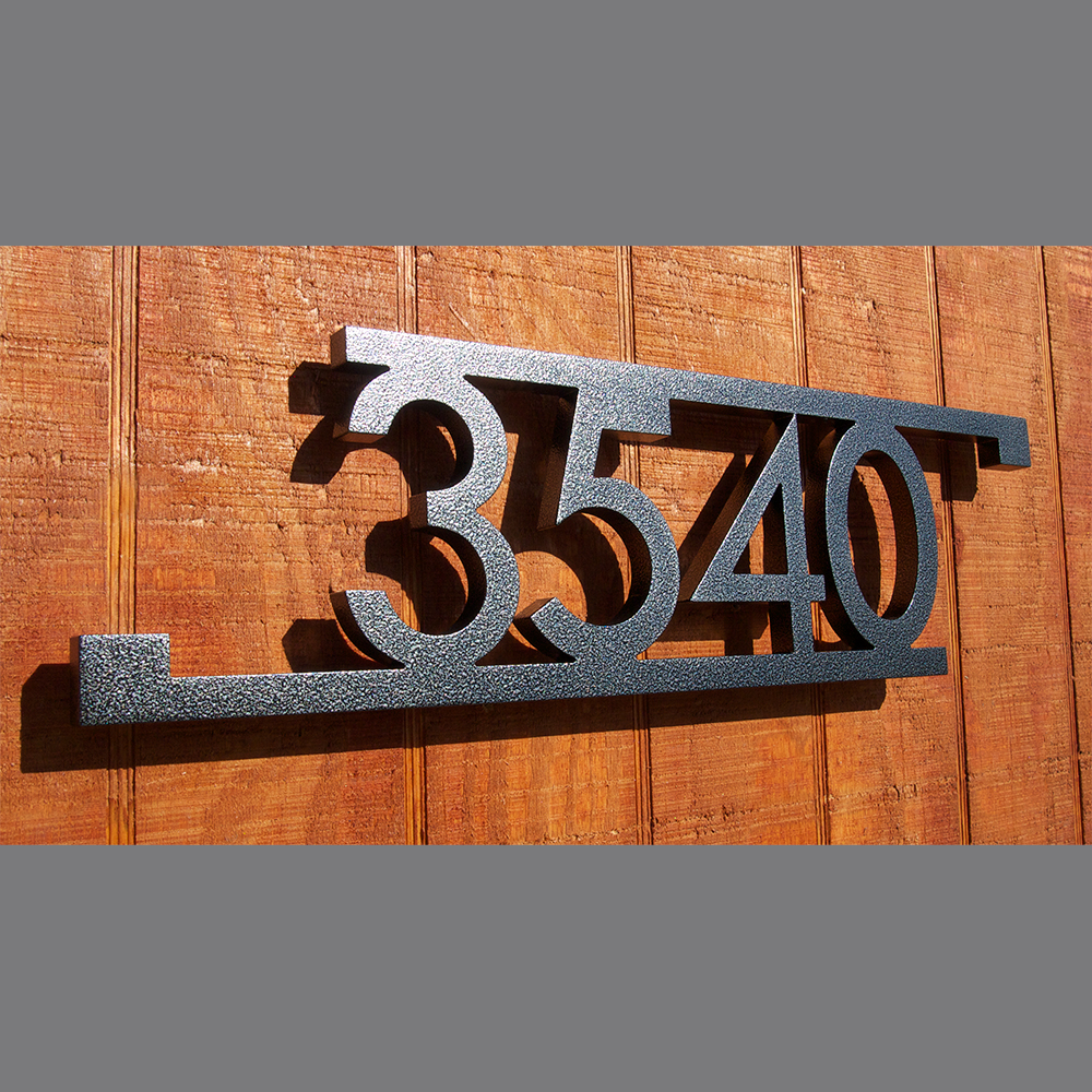 USOM Modern Bars & Squares House Number Sign in Powder oated ... - ^