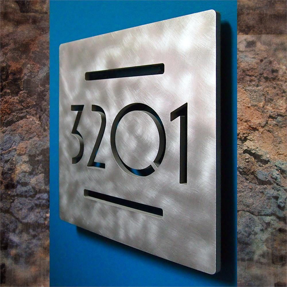 ustom uro Square Floating House Numbers - ^