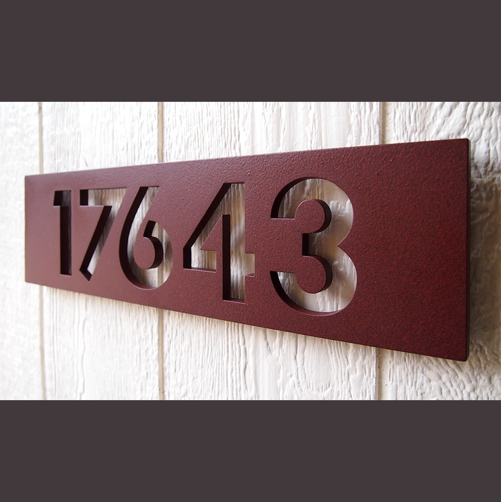 ustom Modern Floating House Numbers in Powder oated luminum - ^