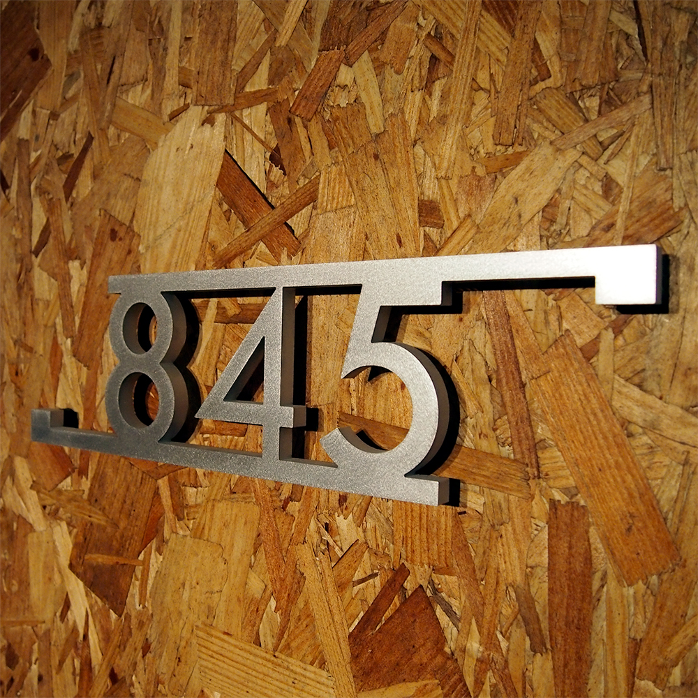 USOM Modern Bars & Squares House Number Sign in luminum - ^