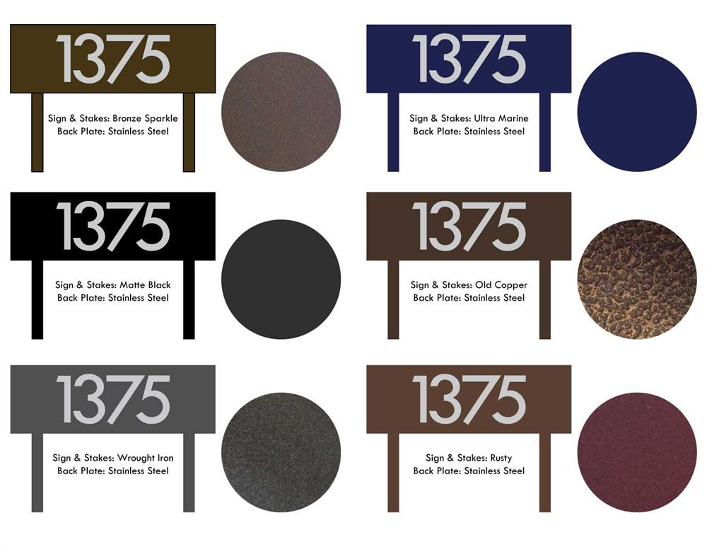 Custom Modern House Numbers Horizontal Powder Coated Aluminum