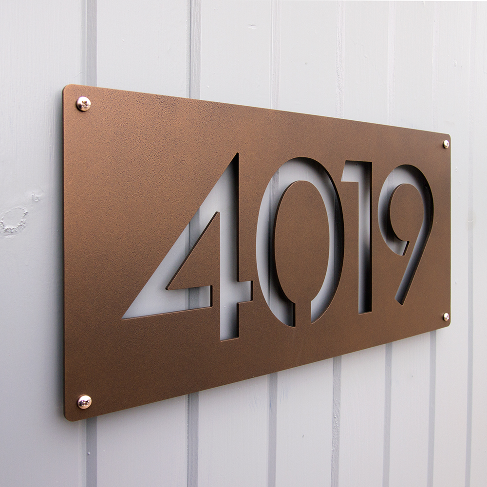 CUSTOM Modernist House Numbers in Powder Coated Aluminum