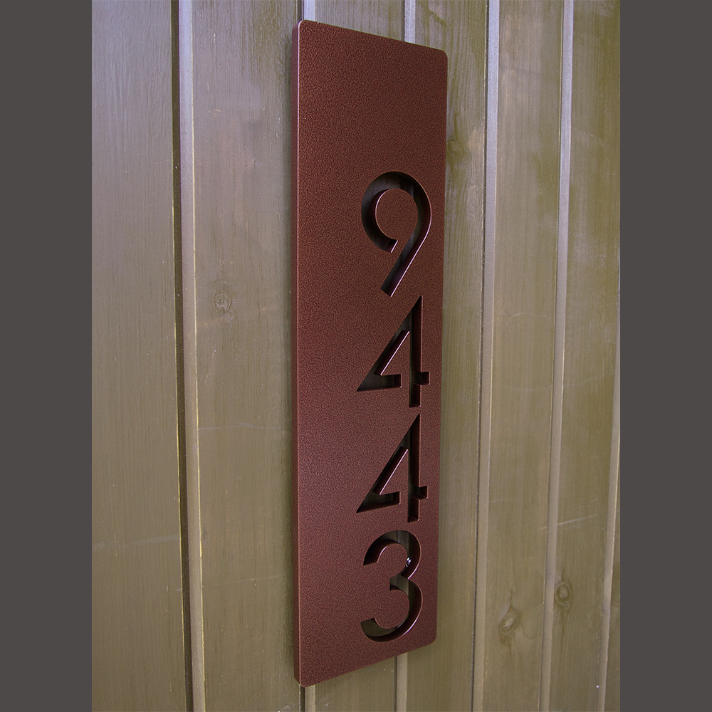 ustom Modern Floating House Numbers Vertical Offset in Powder ... - ^