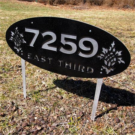 House number lawn stakes auto design tech - House number signs for yard ...