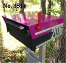 Moda Industria Retro Style Mailbox No. 1814 Post Mount in Powder Coated Alu