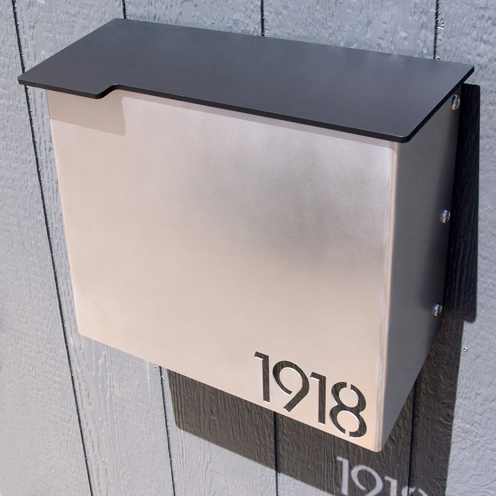 Custom House Number Mailbox No 1711 Modernist Wrap Front
