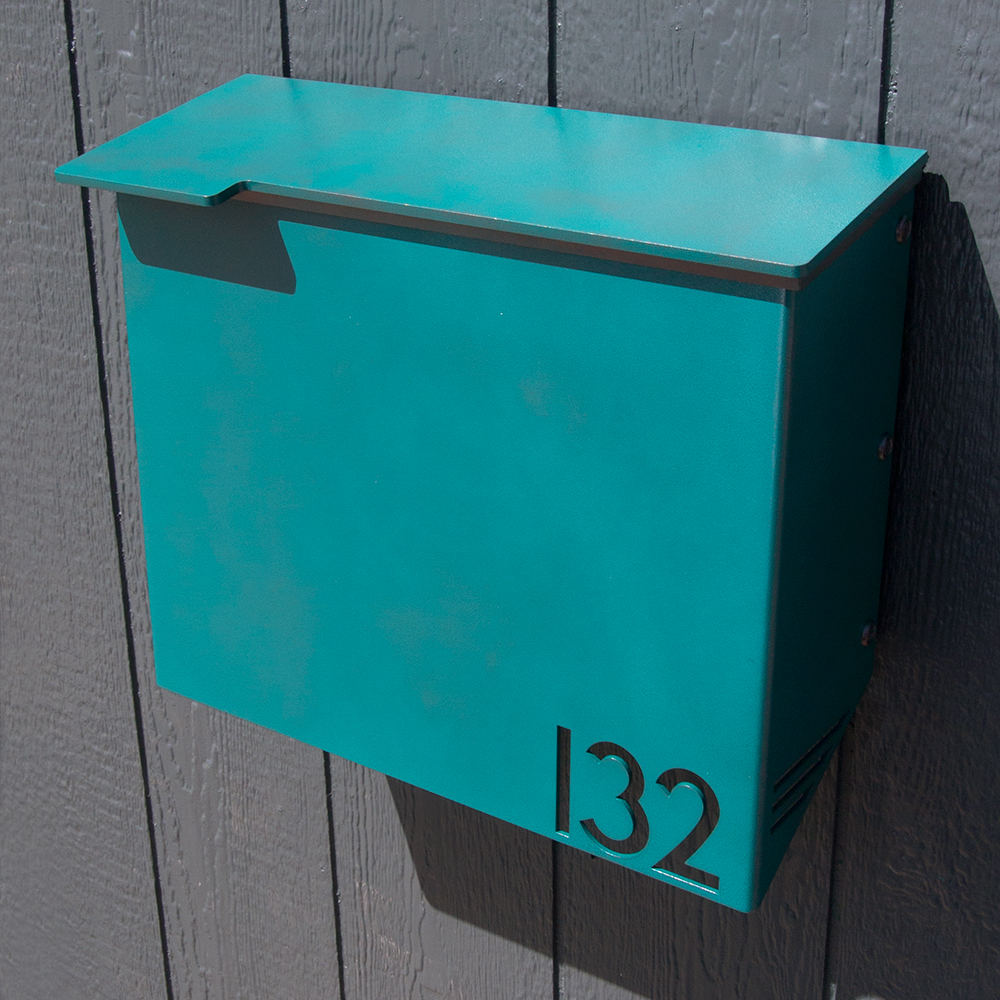 Custom House Number Mailbox No  1711 Wrap-Front in Powder