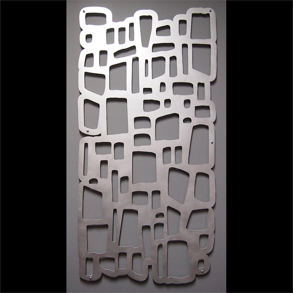 Mod Rocks Wall Art 23 X 46 Hand Brushed Aluminum