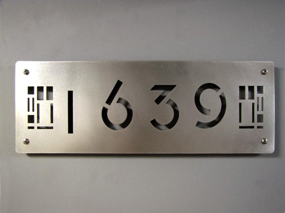 Custom Prairie Style House Numbers In Stainless Steel