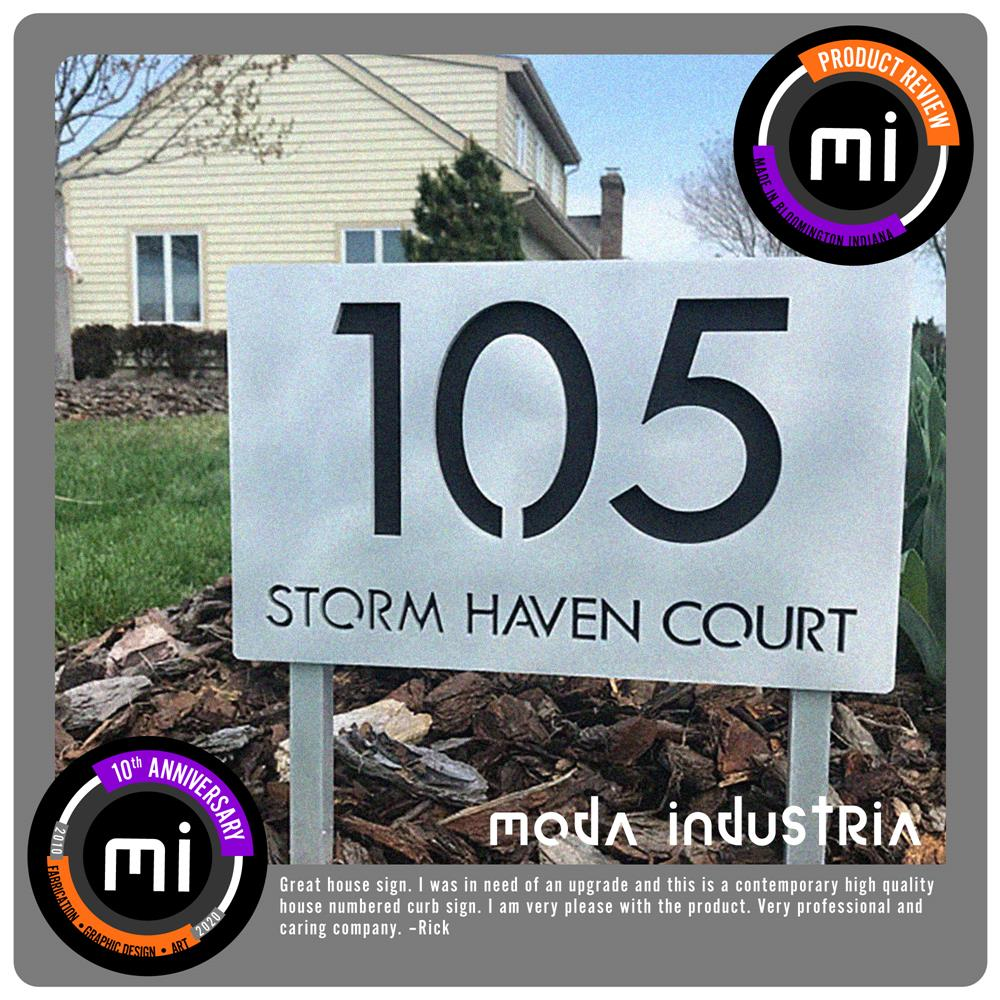 Luxury Home Address Sign Metal Address Plaque Metal Address Sign Address Sign housewarming gifts Vertical Ground Stakes Farmhouse Sign MHD