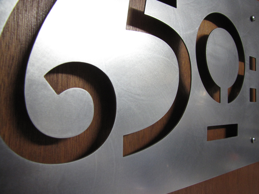 Custom Mission Style House Numbers In Stainless Steel