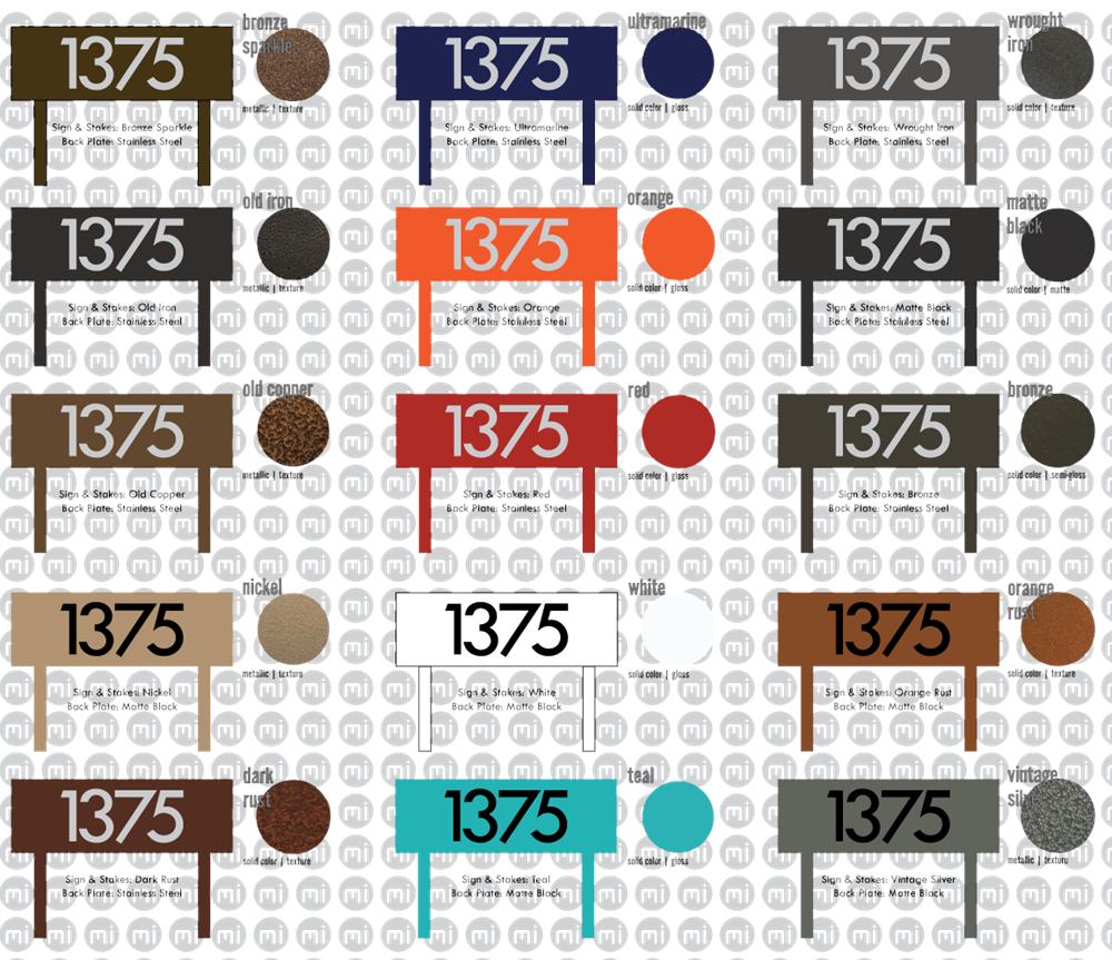 Custom Modern House Numbers Horizontal Powder Coated