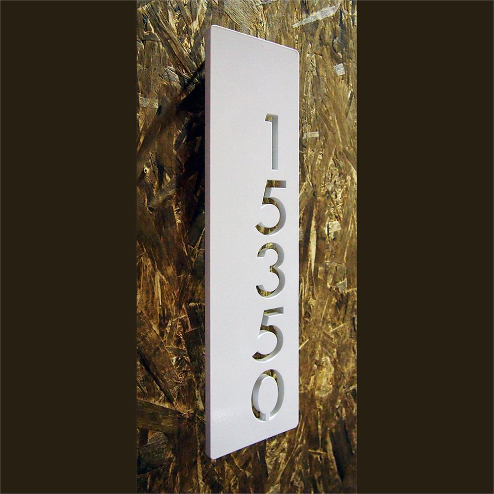Custom Modern Floating House Numbers Vertical Offset In
